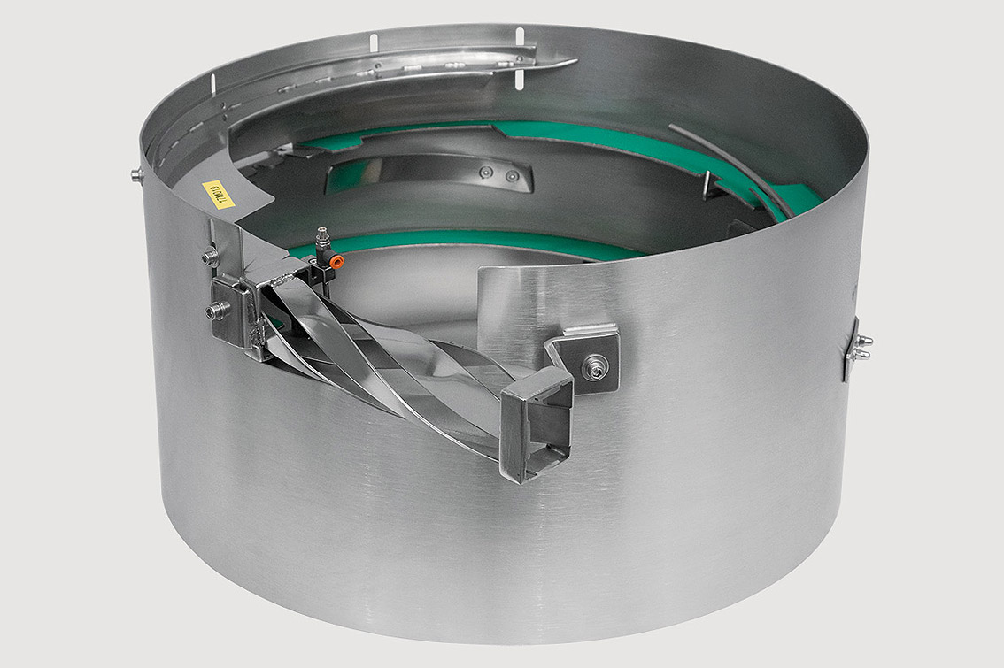 contenitore cilindrico per automazione industriale
